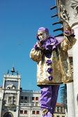圣马克广场、 威尼斯狂欢节 2011年的面具 — 图库照片