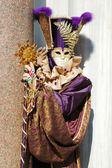 Mask at St. Mark Square,Venice carnival 2011 — Stock Photo