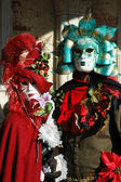 Masks at St. Mark's Square,Venice carnival,Italy — Stock Photo