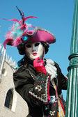 Mask at St. Mark's Square,Venice carnival,Italy — Stock Photo