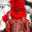 Stock Photo: Red Mask at Carnival of Venice,Italy,2011