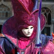 Stock Photo: Mask at St. Mark Square,Venice carnival 2011