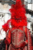 Red Mask at Carnival of Venice,Italy,2011 — Stock Photo