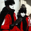 Masks at St. Mark's Square,Venice carnival 2011 - Stock Photo