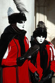 Masks at St. Mark's Square,Venice carnival 2011 — Stok fotoğraf