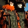 Stock Photo: Two masks at Carnival of Venice 2011