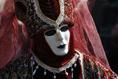 Red mask at Carnival of Venice 2011 — Stock Photo