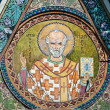 Saint Nicholas icon in the church - patron of seafarers — Stock Photo