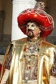 Sultan costume at St. Mark's Square,Carnival — Stock Photo