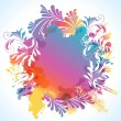 Royalty-Free Stock Vector Image: Colorful floral background, vector illustration