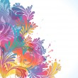 Colorful floral background, vector illustration — Stockvectorbeeld