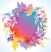 Renkli çiçek arka plan, vektör çizim — Stok Vektör