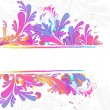 Colorful floral background, vector illustration — Stock vektor