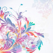 Colorful floral background, vector illustration — Stock Vector