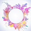 Colorful floral background, vector illustration — 图库矢量图片