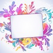 Colorful floral background, vector illustration - Image vectorielle