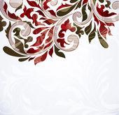 Färgglada blommor bakgrund, vektor illustration — Stockvektor