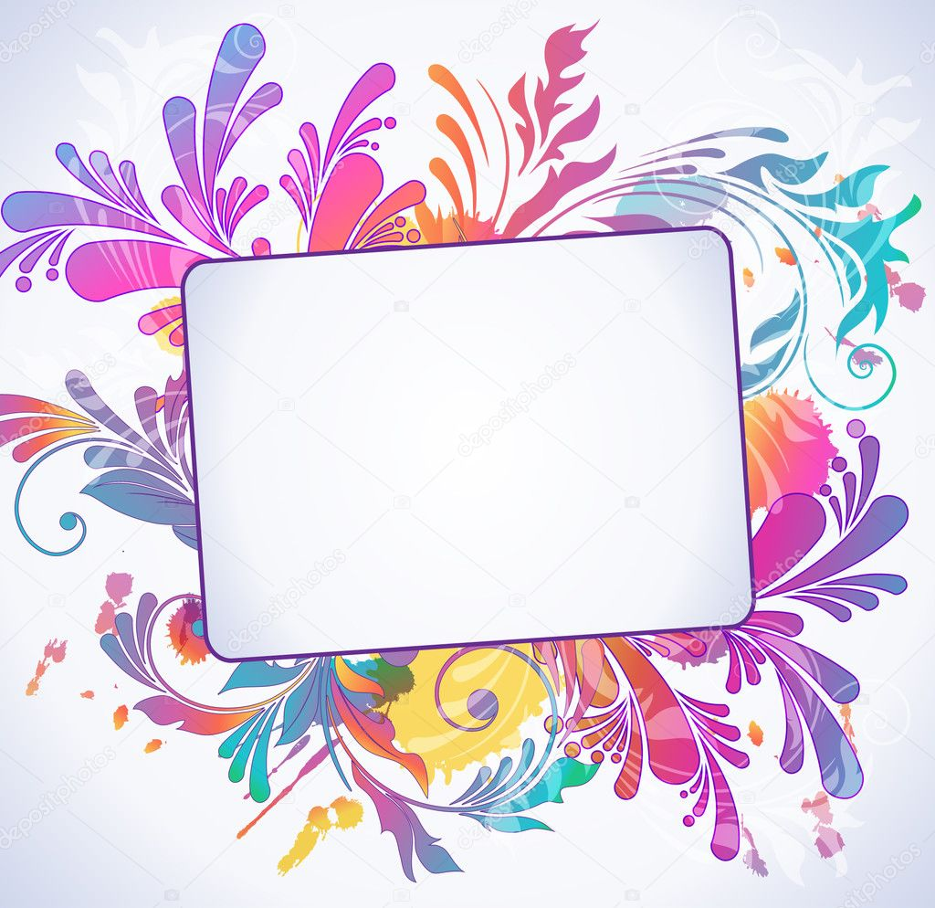 Colorful floral background, vector illustration  — Stock Vector #5361388
