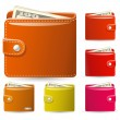 Leather wallets - Imagen vectorial