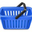 Blue shopping basket — Vector de stock #4972547