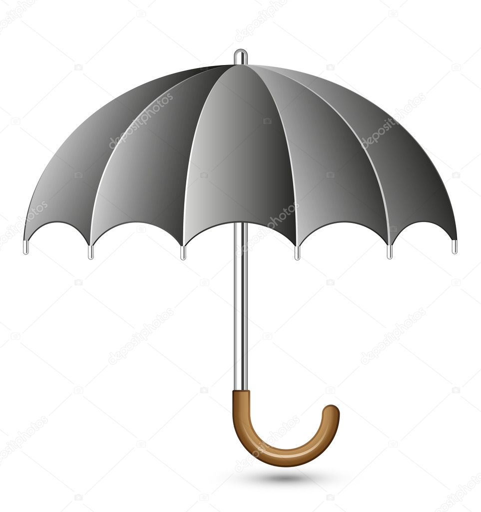 Vector illustration of black umbrella — Stock Vector #4972154