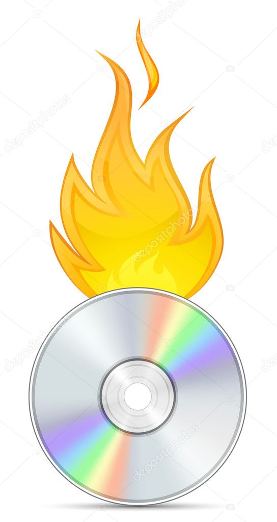 Icon for CD and DVD Burn Software — Stock Vector #4972645