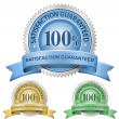 100% Satisfaction Guaranteed Signs — Vector de stock #5128559