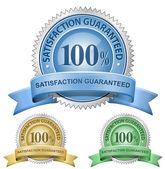 100% удовлетворение гарантировано знаки — Cтоковый вектор