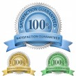 100% Satisfaction Guaranteed Signs - Imagens vectoriais em stock