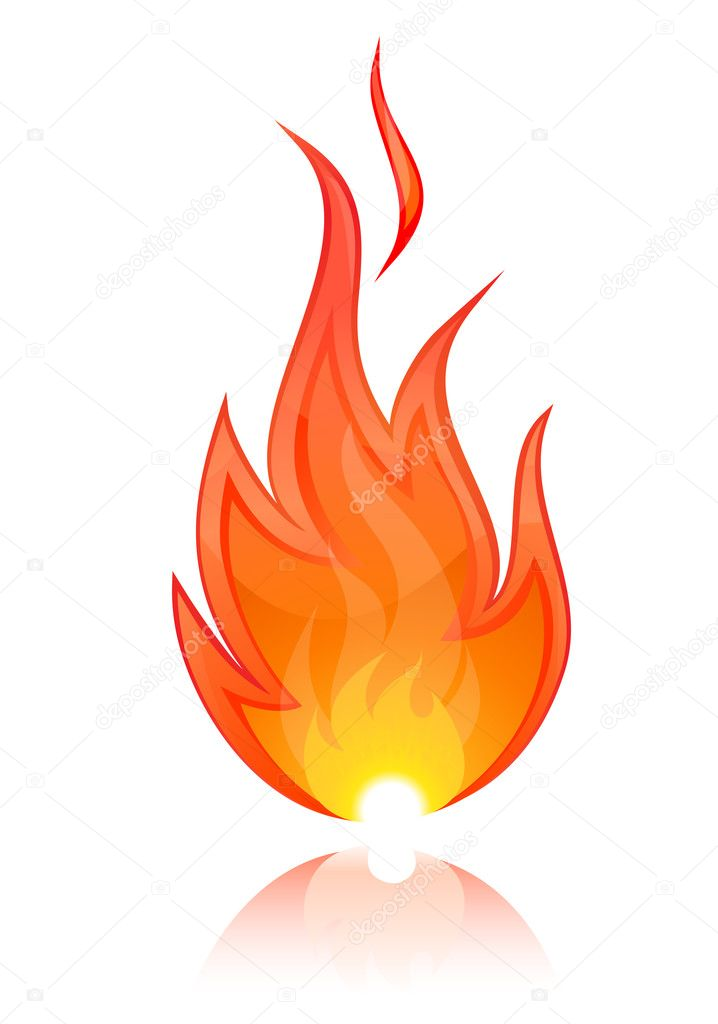 Vector Illustration of Fire — Imagen vectorial #5151397
