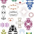 Set of decorative elements — Stock Vector #4112005