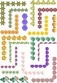 帧的装饰元素的集 — 图库矢量图片