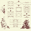 Set of decorative elements — Stock Vector #5179034