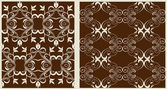 Two pattern background for textiles or wallpaper — Vecteur