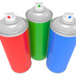 Spray cans — Stock Photo #3924733