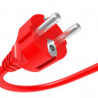 Red electric plug — Photo