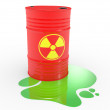 Radioactive barrels — Stock Photo