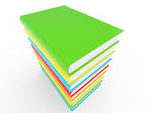 Colorful books stack — Stock Photo