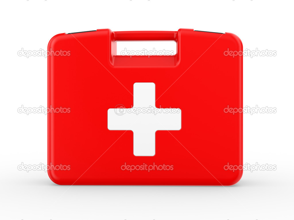 First aid kit on white background — Stock Photo #4118165