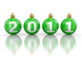 Christmas fur-tree toys 2011 — Stock Photo