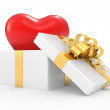 Stock Photo: Gift box with heart