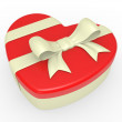 Royalty-Free Stock Photo: Gift box, bow and heart