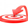 Target and arrow — Stock Photo