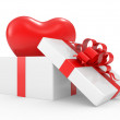 Gift box with heart — Stock Photo #4422467