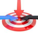 Target and arrow — Stock Photo