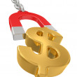 Magnet with chain and dollar signs — Stock Photo #4554909