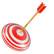 Target with arrow — Stock Photo