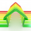 House and scale Energy efficiency concept — Stock Photo