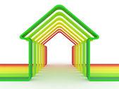 Ev ve ölçek enerji verimliliği kavramı — Stok fotoğraf