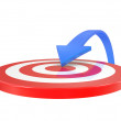 Target and arrow — Stock Photo #5018980